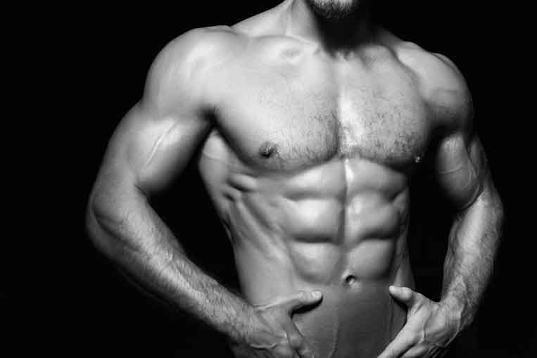 six pack abs man
