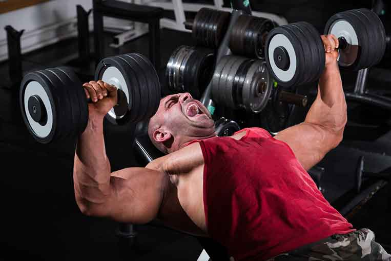 Working out and bodybuilding