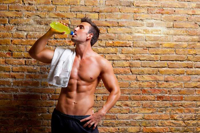 Man drinking RSP L-Carnitine