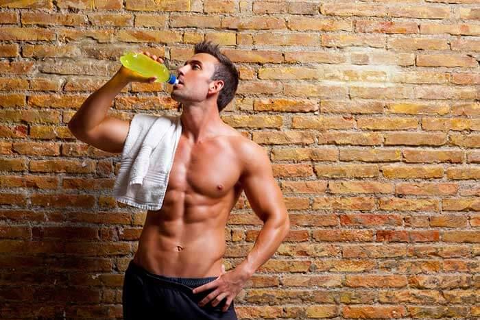 Man drinking RSP L-Carnitine