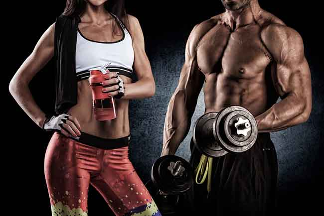 Man and woman keto dieting