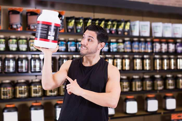 a pot of supplements