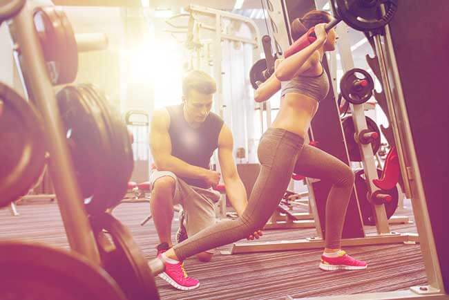 woman resistance training and keto