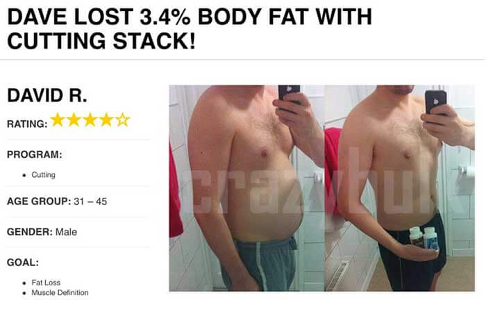 CrazYbulk Clenbutrol Cutting Stack before and after
