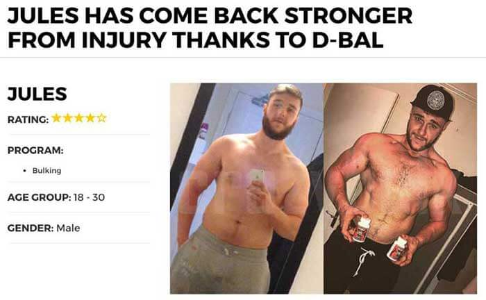 D-Bal muscle gains results