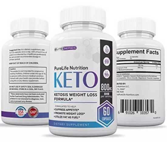 PureLife Keto Advertised Benefits