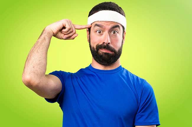 man exercising wrong