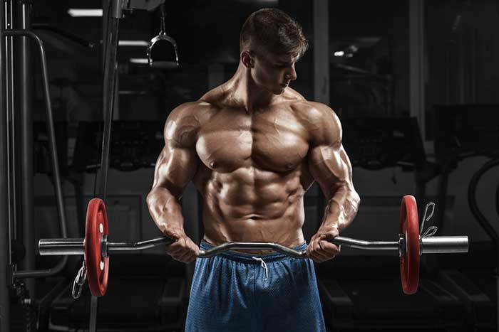 Man with muscle definition