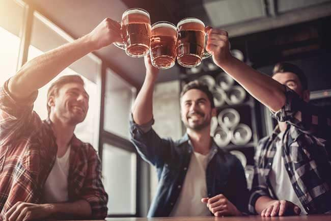 men drinking alcohol not losing weight