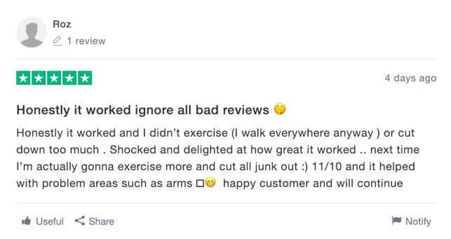 Good reviews Skinny Coffee Club