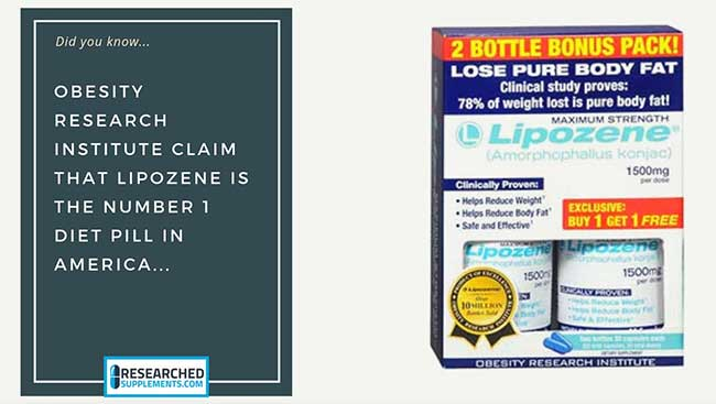 Lipozene number 1 diet pill in America
