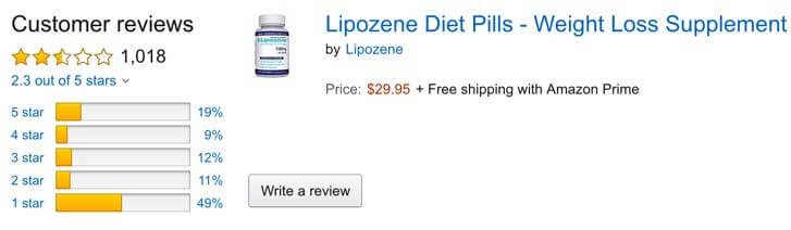 Lipozene on Amazon