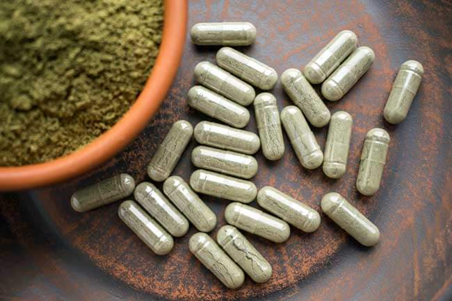 Green powder tablets