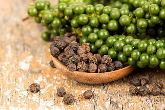 Piperine used in supplements for absorption