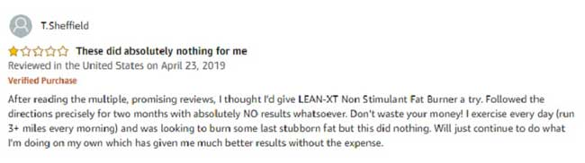 Bad reviews of Lean XT