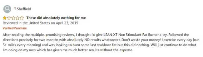 Bad reviews of Lean XT